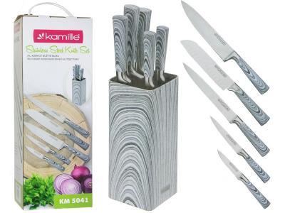 Набор ножей 6 пр нерж.сталь на подставке (5 ножей+подставка)
