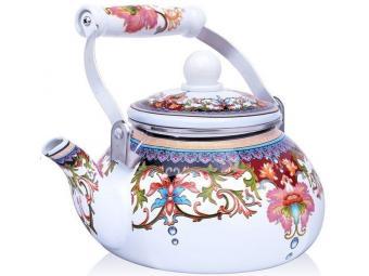 Чайник 2,5л эмалированный Узор Mayer&Boch