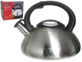 Чайник 3л со свистком HITT Ecompact