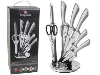 Набор ножей на подставке 8пр Carbon Metallic Line