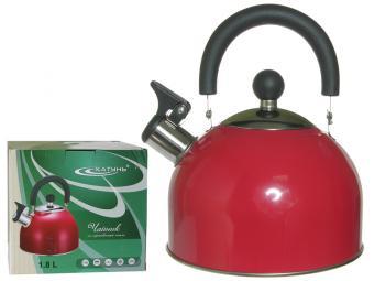 Чайник 1,8л со свистком ''Кухня'' (малиновый)