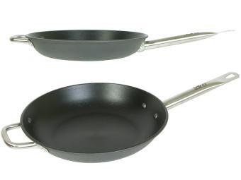 Сковорода 24см LARA черная, кованый чугун, ручка сталь, антипригар покр., индукция