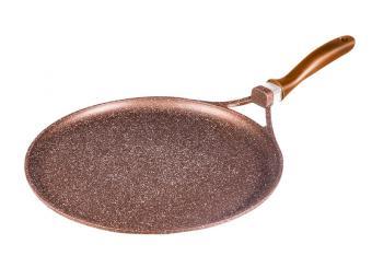 Сковорода 32см LARA Rio CHOCO литой алюминий, литая ручка, мрамор, индукция, Soft Touch