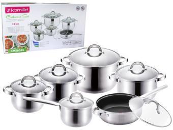 Набор посуды из нержавеющей стали 12 пр со сковородой