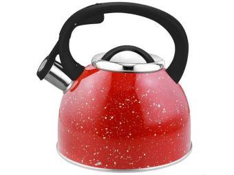 Чайник 2,5л нерж со свистком Arte 280825