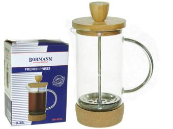 Кофе-пресс 0,35мл стеклянная чаша бамбуковая подставка