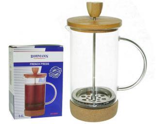 Кофе-пресс 0,8мл стеклянная чаша бамбуковая подставка