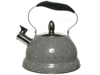 Чайник 3л нерж 3 слойное ТРС капсульное дно, коричневый гранит