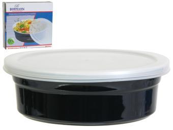 Форма для выпечки керам.круглая 203*60мм пластик.крышка