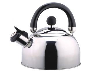 Чайник 3,0л нерж. со свистком капсул.дно DJA-3023