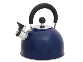 Чайник 2,5л нерж со свистком Синий