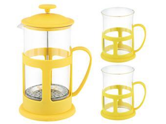 Кофе-пресс 600мл и две чашки