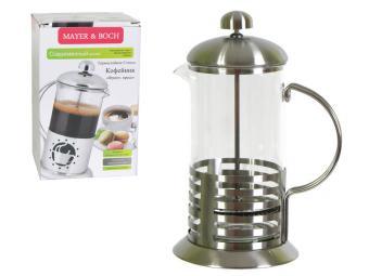 Кофе-пресс 600 мл стальной Круги