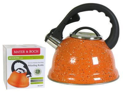 Чайник 2, 8л нерж оранж крошка Mayer&Boch
