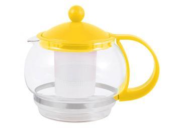 Чайник заварочный 880мл пластик, стекло РТР-12-880МL