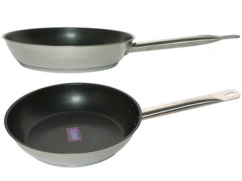Сковорода 26см Общепит нерж с покрытием индукция