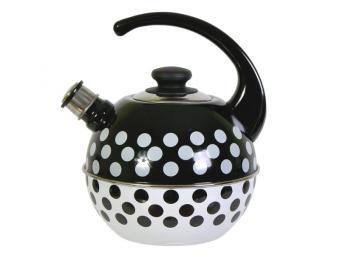 Чайник 3,5л сферический со свистком Горохи