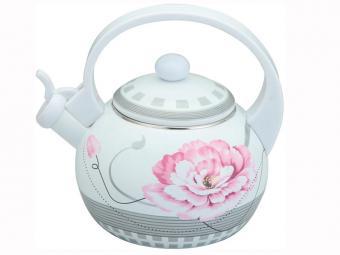 Чайник 2л эмаль Нежный цветок