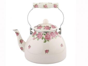 Чайник Розы слоновая кость 4л эмаль Winner
