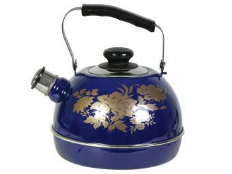 Чайник 3,5л со свистком синий Олимпия