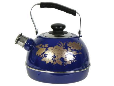 Чайник 3, 5л со свистком синий Олимпия