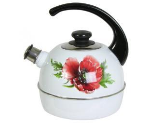 Чайник 4л со свистком Маковый цветок