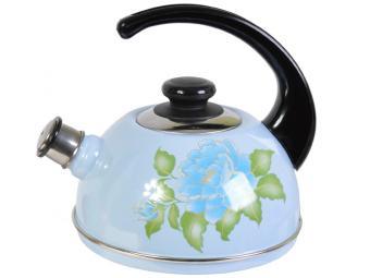 Чайник 2,5л со свистком голубая орхидея