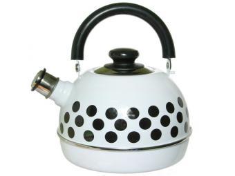 Чайник 3,5л с подвижной ручкой белый/черные горохи