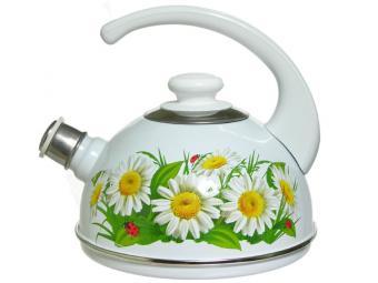 Чайник 2,5л со свистком Марианна белый