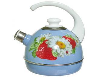 Чайник 3,5л синий туман/клубника с ромашкой