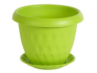 Горшок ''Розетта'' 0,9л с поддоном зеленый