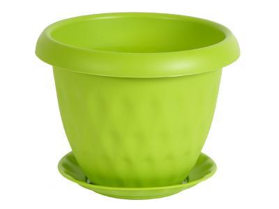 Горшок ''Розетта'' 2, 8л с поддоном зеленый Martika