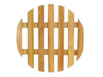 Подставка под горячее Бамбук круглая решетка
