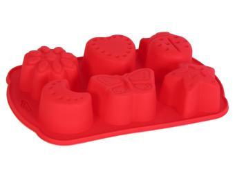 Форма для выпечки силикон 6 кексов Лето №3 17*10,5*3,5см