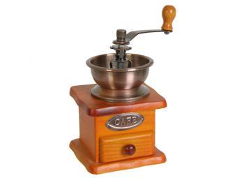Кофемолка ручная с деревянным основанием
