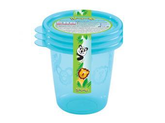 Комплект контейнеров Пластишка 0,2л 3шт