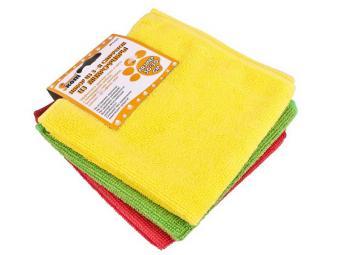 Набор салфеток для уборки микрофибра 3шт 30*30см