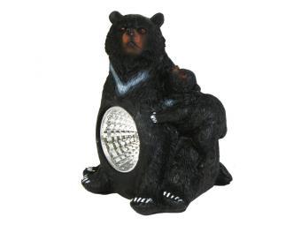 Светильник садовый на солнечной батарее Медведи 9,5*7см