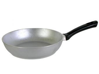 Сковорода 22 см литая без покрытия с утолщенным дном