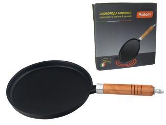 Сковорода блинная чугунная со съемной ручкой CP-23, диам - 23 см, в цветной коробке
