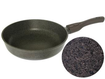 Сковорода 24см индукционная со съемной ручкой Коричневая