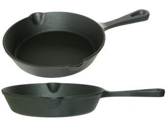 Сковорода 15см чугун литая ручка тм MYRON COOK