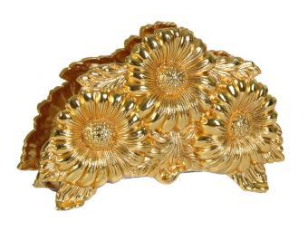 Салфетница Подсолнухи под золото