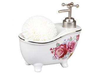 Дозатор для моющего средства с губкой Ванночка