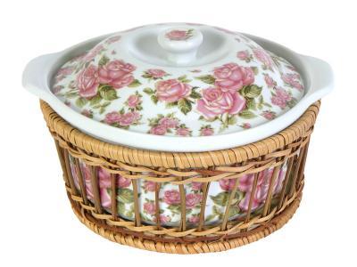 Кастрюля керамическая Корейская роза 1, 5л
