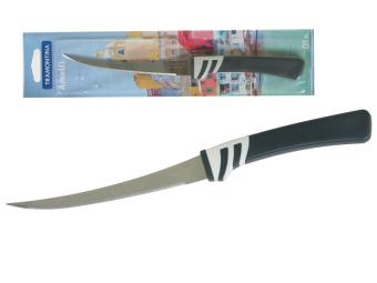 Нож для томатов 12,5см Tramontina Amalfi блистер черный