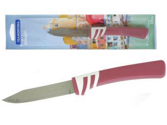 Нож овощной 7,5см Tramontina Amalfi блистер рубин