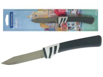 Нож овощной 7,5см Tramontina Amalfi блистер черный