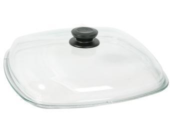 Крышка 28см стеклянная квадратная