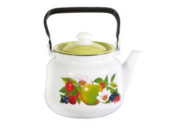 Чайник 3,5л эмалированный цветная крышка